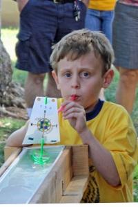 Gabriel at the cub scout Sailboat Regalia